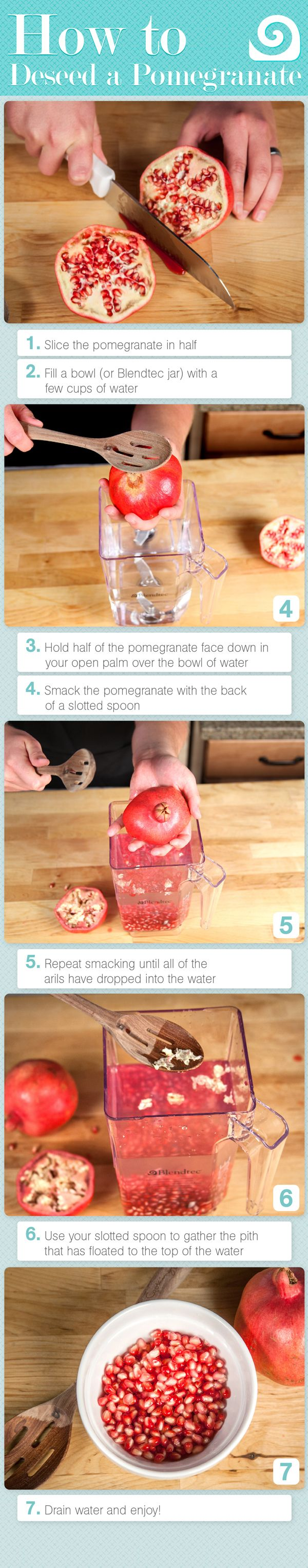 How to Deseed a Pomegranate diy diy ideas easy diy diy food diy fruit