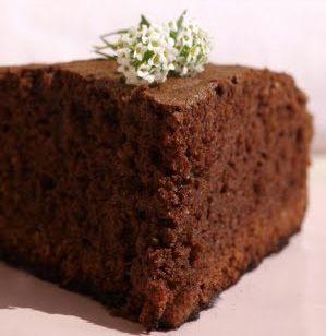 Bizcocho de chocolate con microondas