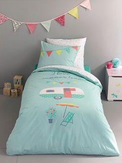 Sommerlicher Bettbezug für Mädchen