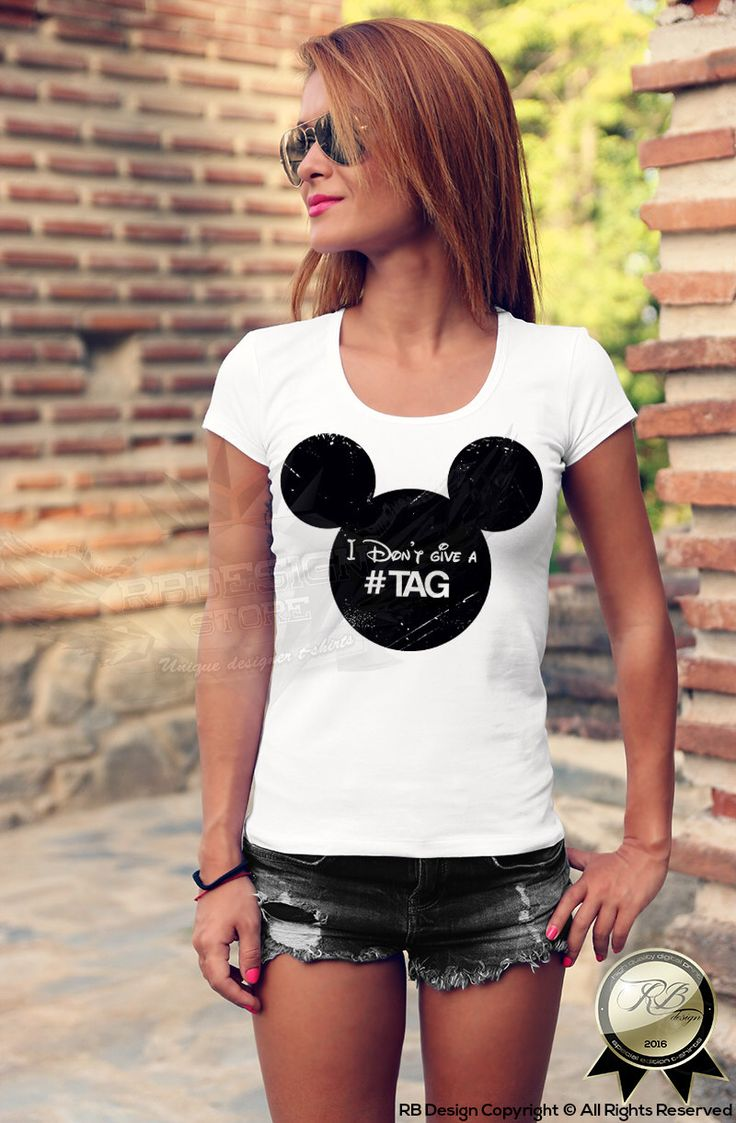 Mickey head I don't give a tag funny slogan White women's t-shirt  ladies Tank Top fun trip dope hip hop made me do it 5sos  WD135 by RBdesignstore on Etsy https://www.etsy.com/listing/250241058/mickey-head-i-dont-give-a-tag-funny