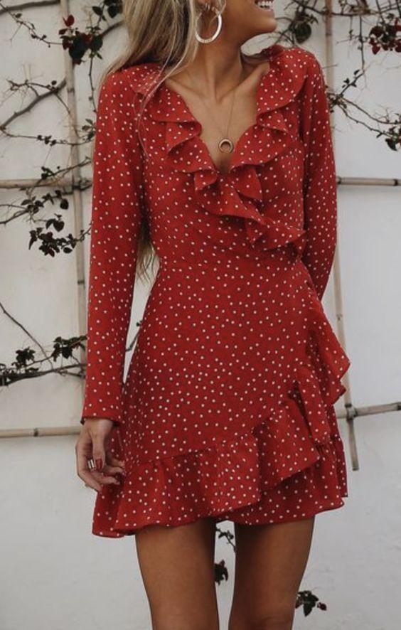e4f6a3cd782f polka dot wrap dress | girl got style | Fashion, Fashion outfits ...