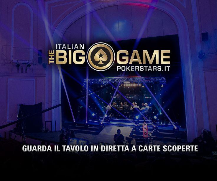 Che nomi all'Italian #BigGame! Guarda il tavolo in #live #streaming a carte scoperte!