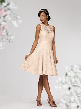 An ivory lace casual wedding or reception dress from Anas Bridal ...