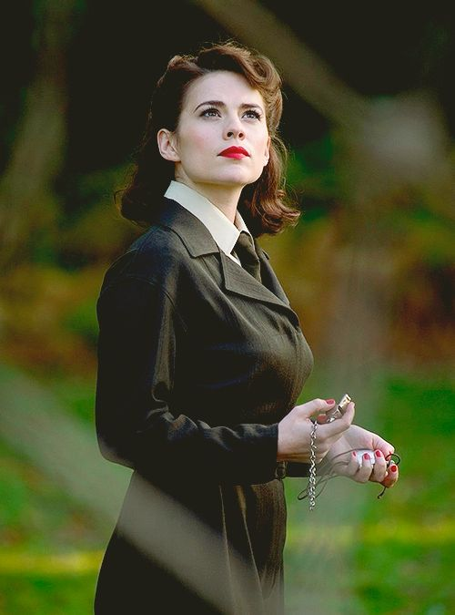Peggy Carter from Captain America. So sad to see her in The Winter Soldier.