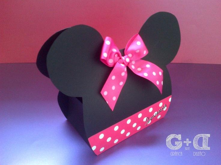 Cajas en Forma de Minnie para las Niñas.- | Cotillones Minnie ...