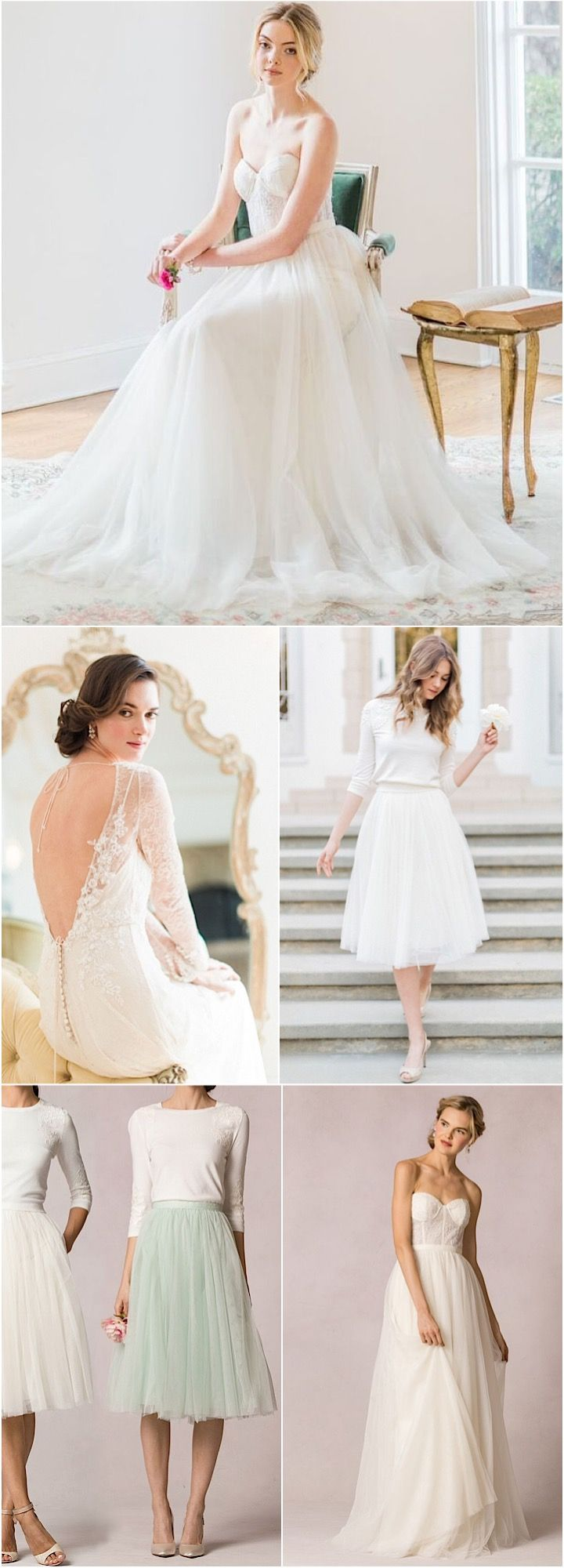 Gorgeous Jenny Yoo wedding gowns and bridesmaid dresses