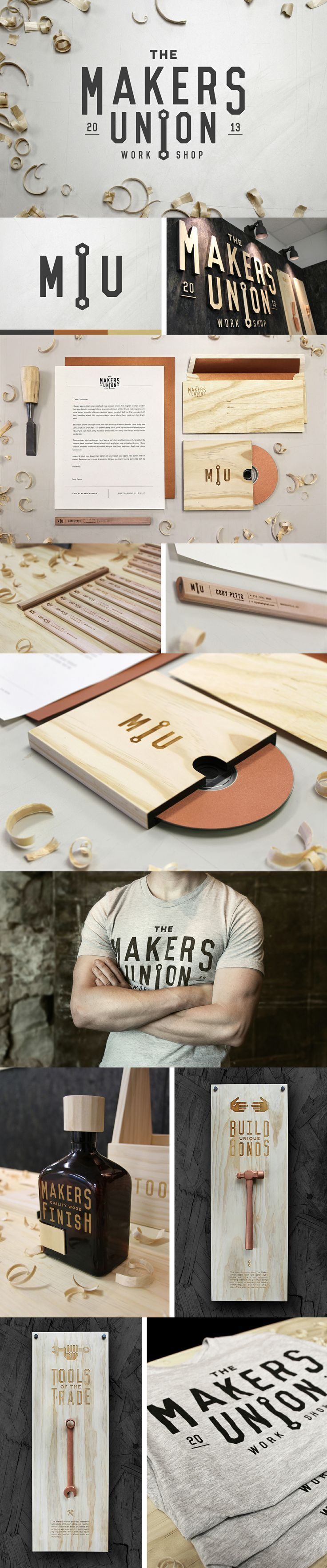 The Makers Union branding and #stationery design by Cody Petts