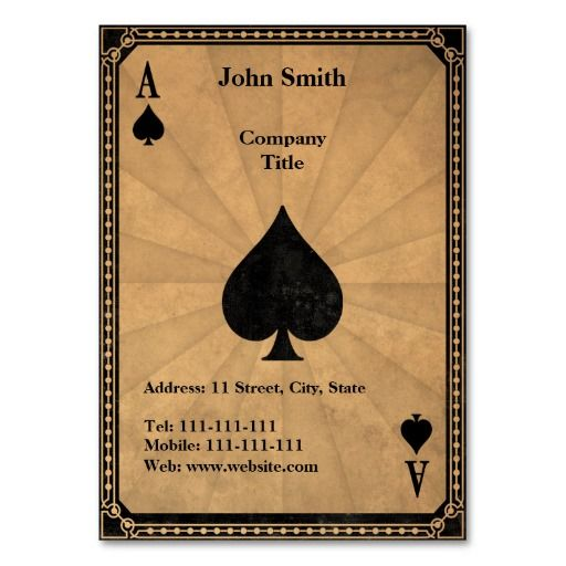 Vintage Ace of Spades Business Card Templates