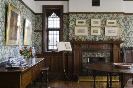 Wightwick Manor: The Morning Room at Wightwick Manor, Wolverhampton, West…