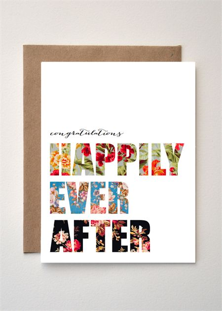 HAPPILY EVER AFTER - Wedding/engagement greeting card
