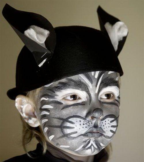 Trucco di Halloween per bambini da gatto nero