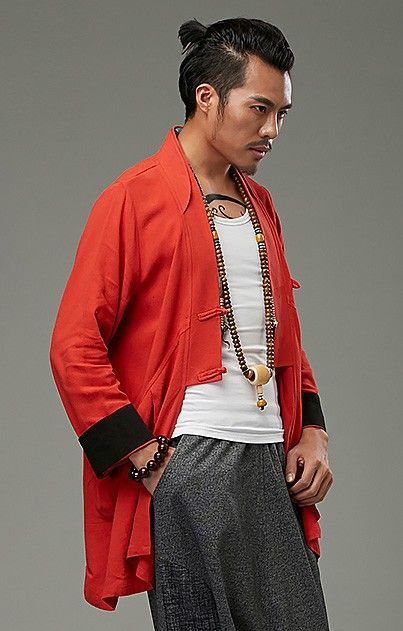 Red Chinese Style Kung Fu Jacket via Asia-Sale Best Tai Chi, Kung Fu Clothing