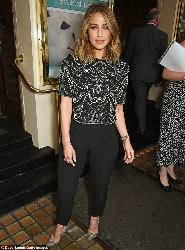Stylish S-Clubers: Rachel Stevens opted for a chic and understated monochrome ensemble, wh...