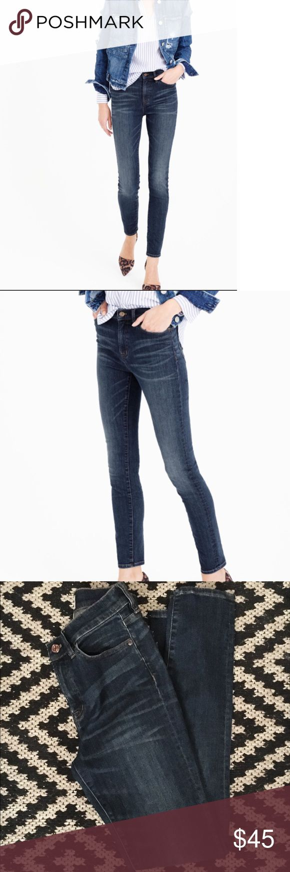 J Crew High Rise Lookout Skinnies J Crew high rise lookout jeans in a dark wash. Size 25. Skinny fit. Almost new. I can't remember if I've worn or not so I didn't list as NWOT. There's no pilling, stains, snags or holes. These jeans are seriously the best and such a staple piece to own from J Crew. J. Crew Jeans Skinny