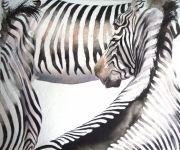 dessin animaux zoo palmyre aquarelle animal : zèbres de la Palmyre