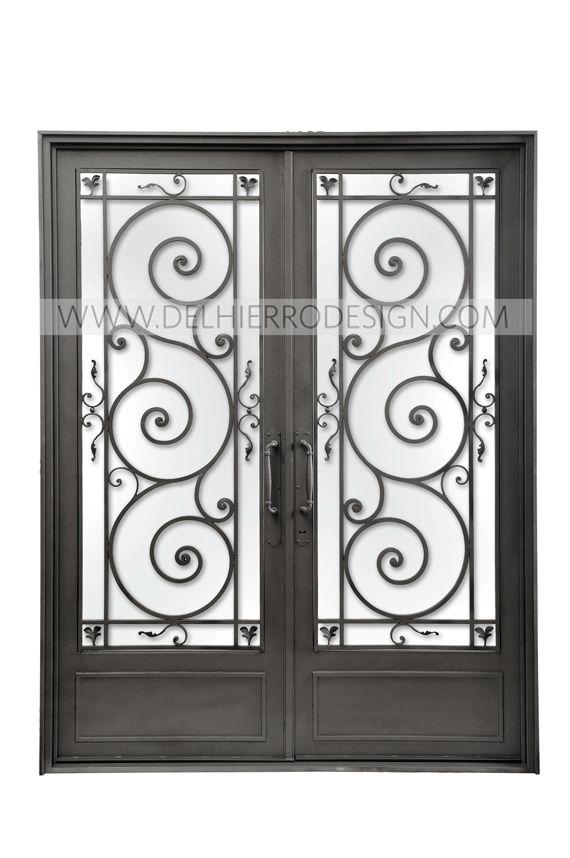 Las 25 mejores ideas sobre portones de hierro forjado en for Modelos de puertas de hierro con vidrio
