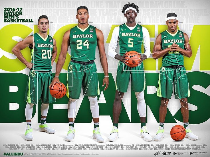 2016-17 Baylor Men's Basketball Poster