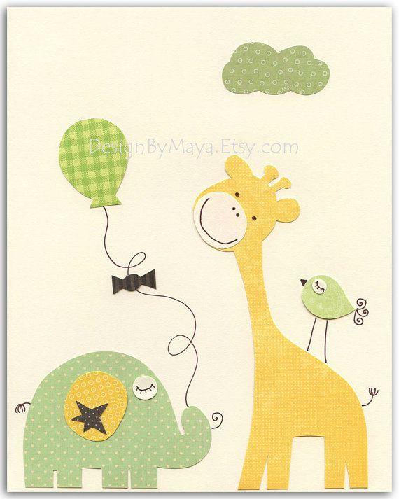 * Vivero decoración y pared arte original para la habitación de bebés y niños! Este arte de vivero dulce se verá perfecto en la pared de su pequeñín vivero.  * Por favor visite mi pequeño sitio de la tienda en etsy https://www.etsy.com/shop/DesignByMaya para ver más de mi arte y estilos de decoración de cuarto de niños.  Mi propia página web: http://www.babyroomwallart.com/ Página de Facebook: https://www.facebook.com/designbymaya Por favor revise mi Pinterest…