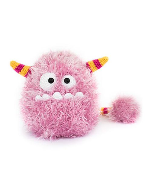 Bibi the Cotton Candy Monster by DIY Fluffies in 'Amigurumi Monsters' book // Dim the lights, bring out your flashlight and quickly check underneath your bed: this new book will reveal the most adorable amigurumi monsters!