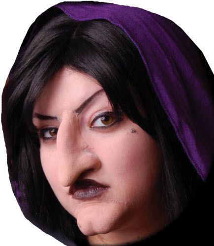 Foam Latex Witch Nose And Chin