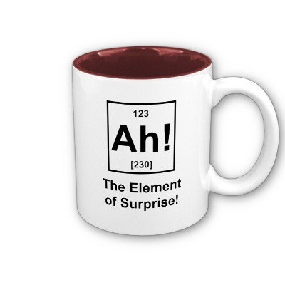 Elegant Ah! The Element Of Surprise Coffee Mugs From Zazzle.com