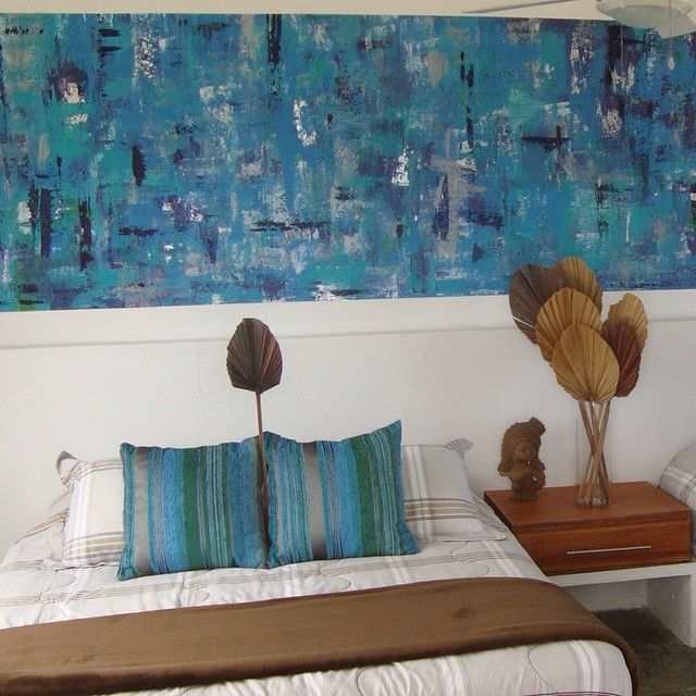 Mural azul profundo