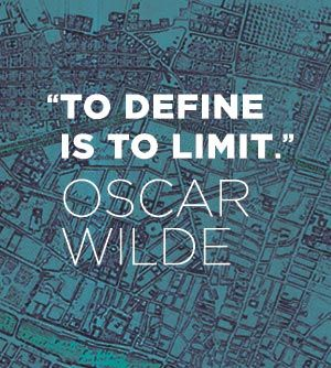 LOVE IT...once you define something, you are instantly limiting all the different things it can mean