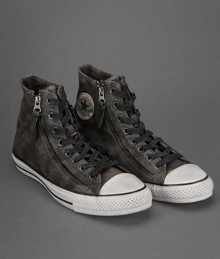 John Varvatos Chuck Taylor Double Zip Camo High-Top