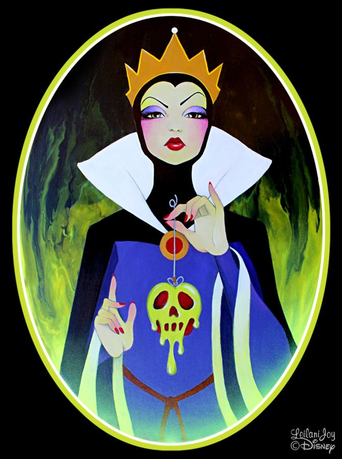 """Evil Most Fair"" by Leilani Joy for Disney Wonderground Gallery www.LeilaniJoy.com Evil Queen Snow White Art"