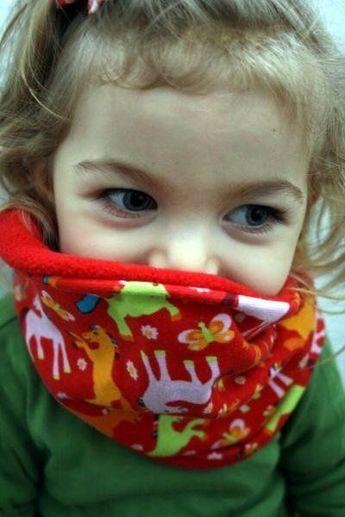 Snood enfant - indications des longueurs et taille