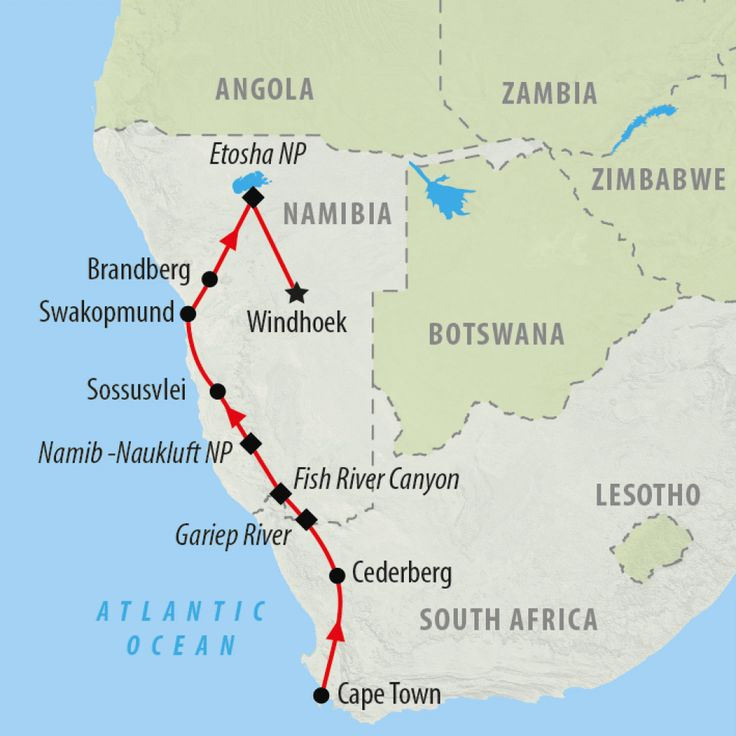 Cape to Namibia is a 2 week overland safari starting in Cape Town heading north in Namibia including Fish River Canyon, Etosha, Swakopmund, Sossusvlei & Windhoek