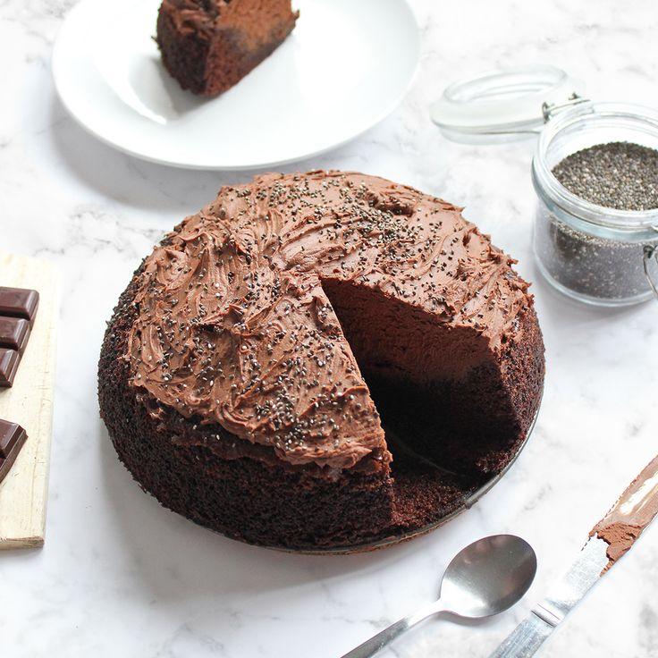 Gâteau au chocolat à la courgette et aux graines de chia
