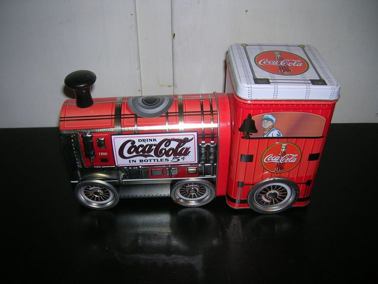 Coca-Cola Locomotiva e vagone scatole di latta,