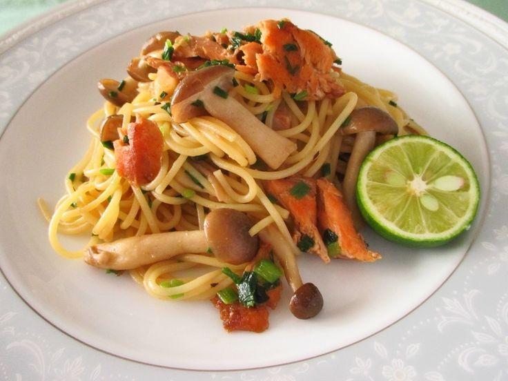 ビタミンDたっぷりの鮭ときのこの和風パスタ by 体脂肪率一桁さん | レシピブログ - 料理ブログのレシピ満載!