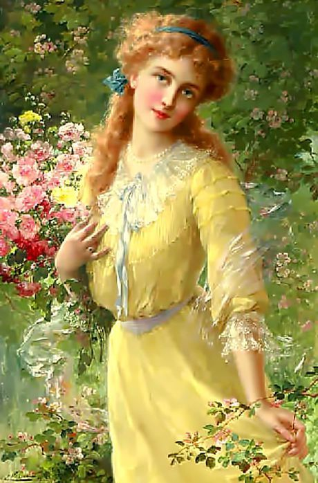Portrait Of A Girl ~ Émile Vernon ~ (French 1872-1919)