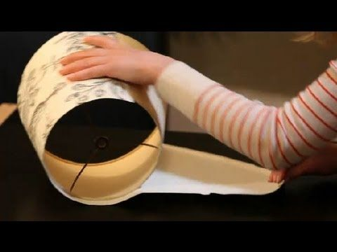 How to Make or Recover a Lamp Shade : Interior Design 101 - YouTube