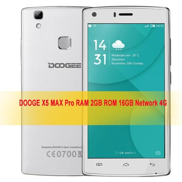 DOOGEE X5 MAX PRO 8GB/16GB 1GB/2GB Fingerprint 5inch Android 6.0 4Core cellphone