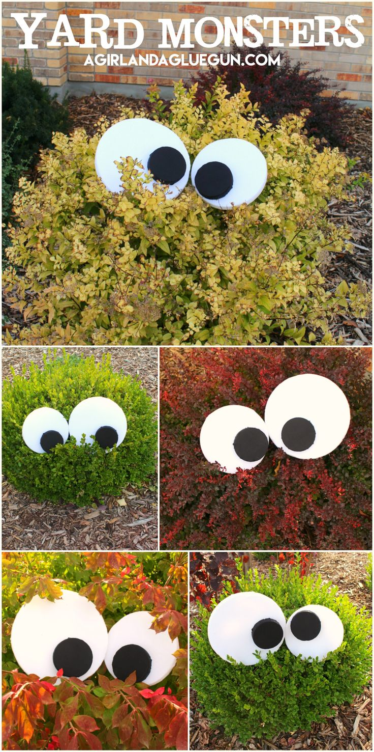 yard monsters fun halloween decorationsmonster - Cute Halloween Decoration Ideas