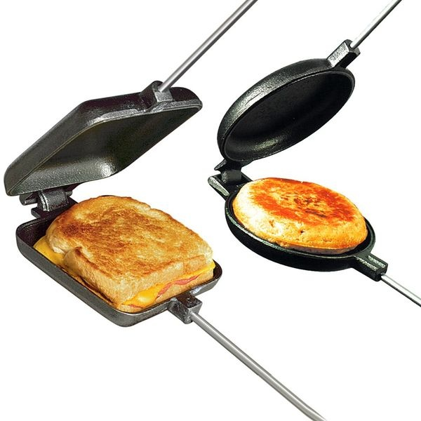 This takes me back to childhood and weekends spent in the family 70's style tent trailer. Some of my best memories. We called these bad boys Jaffles. Best breakfast ever.