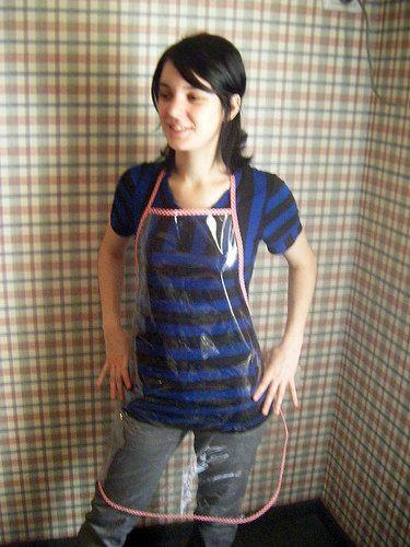 Clear pvc apron (ShyShyny) Tags: clear pvc apron ghjp прозрачныйфартук двафартука