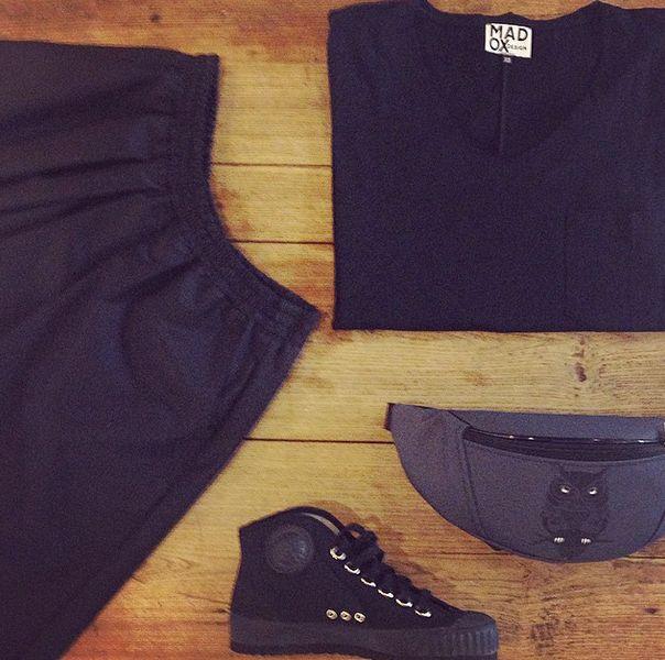 #madox #madoxdesign #essential #fashion #black #owl #komrads #komradinvasion #skirt