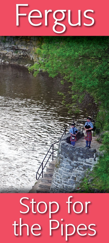 Pipers by the river ... in Downtown Fergus   https://www.facebook.com/pages/Downtown-Fergus/117343701609424