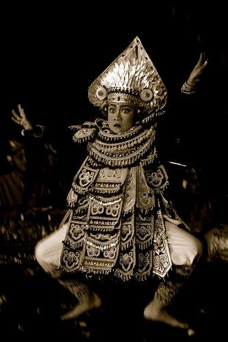 Baris dancer, Bali