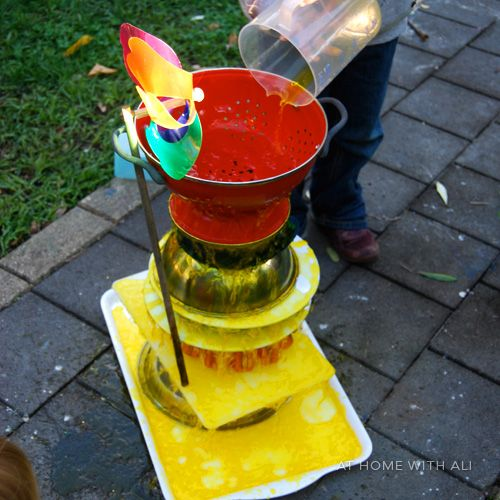 Cascading waterfalls kids can build