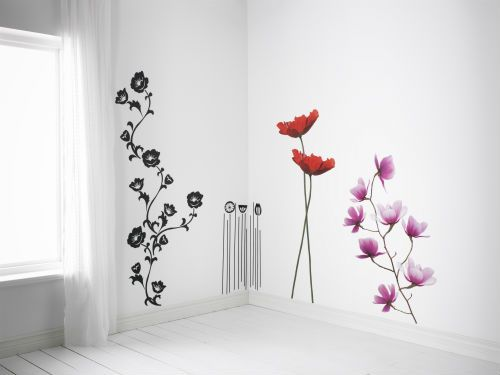Decorative stickers are an inexpensive and easy way to brighten up those plain white walls.