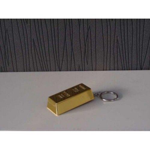 Altın Külçe Şeklinde Açacaklı Anahtarlık