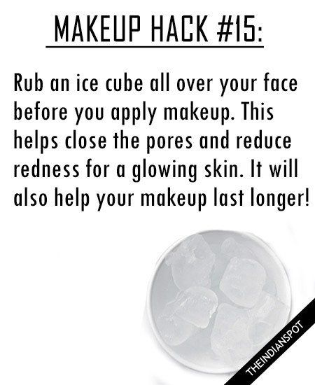 ICE CUBE AS MAKEUP PRIMER