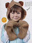 Вязаный спицами детский шарф-капюшон Snuggle Up