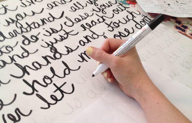 lyrics on canvas via pocketful of pretty blog. Great idea!