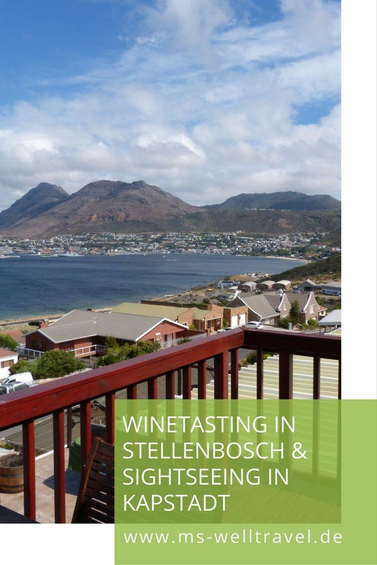 Reisetipps für Südafrika - Stellenbosch und Kapstadt. Winetasting und ab nach Kapstadt. Immer eine Reise wert.